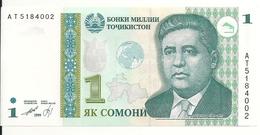 TADJIKISTAN 1 SOMONI 1999 (2010) AUNC P 14 - Tadschikistan