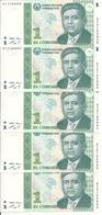 TADJIKISTAN 1 SOMONI 1999 (2010) UNC P 14 ( 5 Billets ) - Tadschikistan