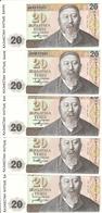 KAZAKHSTAN 20 TENGE 1993 UNC P 11 ( 5 Billets ) - Kazakhstan