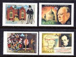 ANTIGUA - 1974 CHURCHILL ANNIVERSARY SET (4V) FINE MNH ** SG 408-411 - Antigua & Barbuda (...-1981)