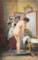 """ILLUSTRATEUR - F. DUFAUX - """"LA TOILETTE"""" - FEMMES - NU FEMININ - Illustrateurs & Photographes"""