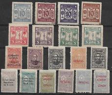 1933 Paraguay Personajes Sobresellados 19v. Mint - Paraguay