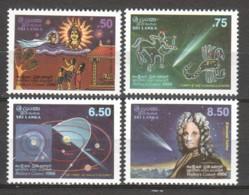 Sri Lanka 1986 Mi 732-735 MNH HALLEY'S COMET - Astronomie