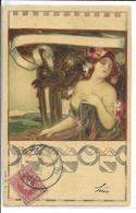 ILLUSTRATEUR STYLE ART NOUVEAU  FEMME    SERIE N 166 N 4   ESPAGNE OBLITERATION - Chiostri, Carlo