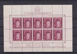 Generalgouvernement (GG) Kopernikus, **, Kleinbogen I/4, MiNr. 104 KLB - Occupazione 1938 – 45