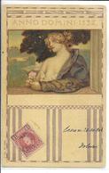 ILLUSTRATEUR STYLE ART NOUVEAU  FEMME AVEC ROSE BANDEAU  ANNO DOMINI 1532    SERIE N 166 N 8   ESPAGNE OBLITERATION - Chiostri, Carlo
