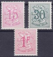 Belgique - N°859A + 1026CA + 1027C ** Chiffre Sur Lion Héraldique - 16 Dents ! - 1951-1975 Lion Héraldique
