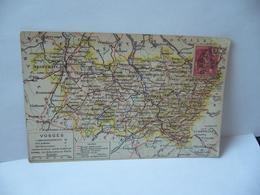 VOSGES CARTE GÉOGRAPHIQUE CPA 1909 EDITION A QUANTIN 12 BOULEVARD POISSONNIÈRE PARIS - Carte Geografiche