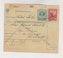 AUSTRIA 1915 VILLACH Parcel Card - Covers & Documents