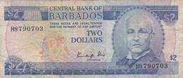 Barbades - Billet De 2 Dollars - John Redman Bovell - P36 - Barbados