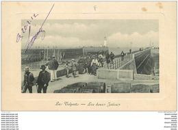 76 LE TREPORT. Les Deux Jetées 1917 - Le Treport