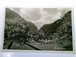 Glarus. Schweiz. AK S/w Gel. 1929. Ortsansicht Mit Kirche, Panoramablick Ins Tal, Blühende Bäume, Bergpanorama - Ohne Zuordnung