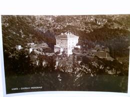 Verres. Castello Medioevale (Medievale), Valle D'Aoste, Italien. AK S/w. Schloß, Burg, Gebäudeansicht, Luftbil - Ohne Zuordnung