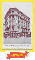 CPA  NICE 06 ♥️ ♥️☺♦♦  BALMORAL PALACE Hôtel ֎ 56, Rue Gioffredo  Tél 30 - 75 - Cafés, Hôtels, Restaurants