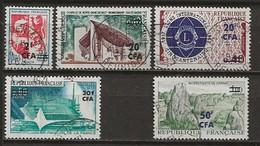 REUNION CFA: Obl., N° YT 373 à 377, Série Complète, TB - Réunion (1852-1975)