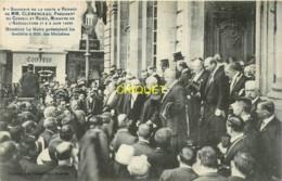 35 Rennes, Visite De Clémenceau Et De Ruau, Le Maire Présentant Les Sociétés - Rennes
