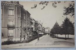 CPA BRUXELLES BRUSSEL Quartier Nord Est Square Marguerite TRAM - Bruxelles-ville