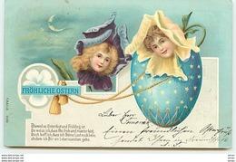 N°6345 - Fröhliche Ostern - Surréalisme - Têtes D'enfants Dans Des Fleurs - Pâques