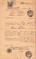 1889 Prag  Dokument M. 5 Gulden Siegelmarke - Historical Documents