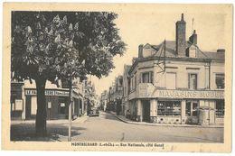 CPA MONTRICHARD - Rue Nationale , Côté Ouest - Ed. Touchelay - ( Le Familistère - A La Maison Bleue ) - Montrichard