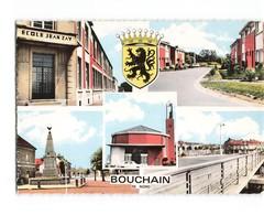 59 Bouchain Carte 5 Vues + Blason Ecole Jean Zay Monument Eglise CPSM GF - Bouchain