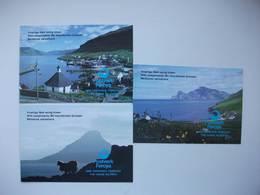 Les îles Féroé Envois Postaux Vues Paysages Paysages Tourbillons Cool - Faroe Islands