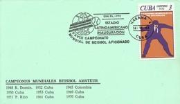 CUBA, TARJETA CONMEMORATIVA  CAMPEONATO BEISBOL AMATEUR - Cartas