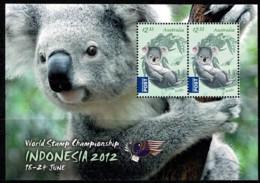 Australia 2012 World Stamp Championship Indonesia Koala Minisheet Used - 2010-... Elizabeth II