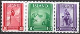 Island - Iceland 1938 Mi. No 197-199  MNH - Ungebraucht