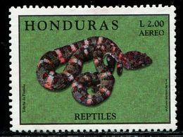 BA2143 Honduras 1998 Reptile Snake 1 Missing Pin MNH - Altri