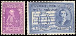 Congo 0339/40 - Bicentenaire Naissance Mozart -- - Sans Gomme/without Gum - Congo Belge