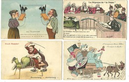 "Lot 12 CPA ""fantaisies"" Varia:humour,satyriques,ect.....voir Scans - 5 - 99 Postkaarten"