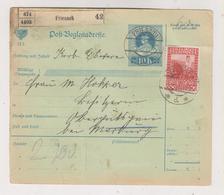 AUSTRIA 1913  FRIESACH Parcel Card - Covers & Documents