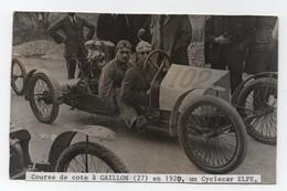 GAILLON (27) - Course De Cote En 1920 - Cyclecar Elfe N°102 - Pilotes - - Automobiles