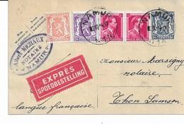 EP. Carte 123 + TP. 419-422-528P De NAMUR Du 5/10/1944 - Enteros Postales