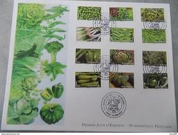 FDC Grand Format France 2012 : Moins De Co2, Légumes (série Complète 12 Timbres) - FDC