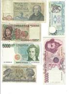 5000 LIRE 1977 + 1983 + 1996 + 50000 Bernini I° D 1990 + 500 1967 + 1979  LOTTO 2906 - 5000 Lire
