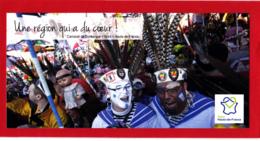 CP 59 Nord, Carnaval De Dunkerque, Hauts-de-France, Masque, Plume, - Carnaval