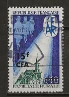 REUNION CFA: Obl., N° YT 396, B - Reunion Island (1852-1975)