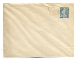 FRANCE ENTIER POSTAL  ENVELOPPE Semeuse 30c Bleu - Standard Covers & Stamped On Demand (before 1995)