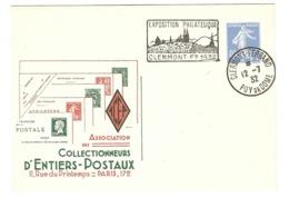 FRANCE ENTIER POSTAL  ASSOCIATION Des Collectionneurs D'Entiers Postaux PARIS 17e - Standard Covers & Stamped On Demand (before 1995)