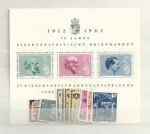 1962 MNH Liechtenstein, Year Complete According To Michel - Liechtenstein