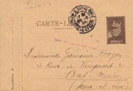 Carte-Lettre / Cachet De Chalon Sur Saone. - Franchise Militaire (timbres)