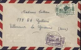 YT 144 + 151 Nouvelles Hébrides Condominium CAD Villa New Hebrides 1 DE 1955 - French Legend