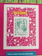 COLLECTOR MARIANNE 3D LES TIMBRES ET VOUS 2e Tirage - Marianne De CIAPPA Adhésif Y&T 864A - 2013 - Neuf ** - Collectors