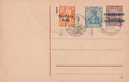 Deutsches Reich / 1919 / Postkarte Mi. P 133II Mit Zusatzfrankatur, SSt. Wartburg (AO11) - Deutschland