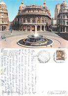 Genova. Piazza  De Ferrari. Viaggiata 1962 - Genova (Genoa)
