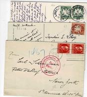 TP N° 62, 63 Et 96 En Paire Sur 1 Enveloppe Et Deux Cartes Posrales - Bavaria