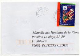 France N° 3077 Issu Du Bloc Y. Et T.Vienne Neuville De Poitou Cachet A9 Du 15/04/1998 - Marcophilie (Lettres)