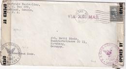 USA 1947 LETTRE CENSUREE DE ASHLAND POUR NÜRNBERG - United States